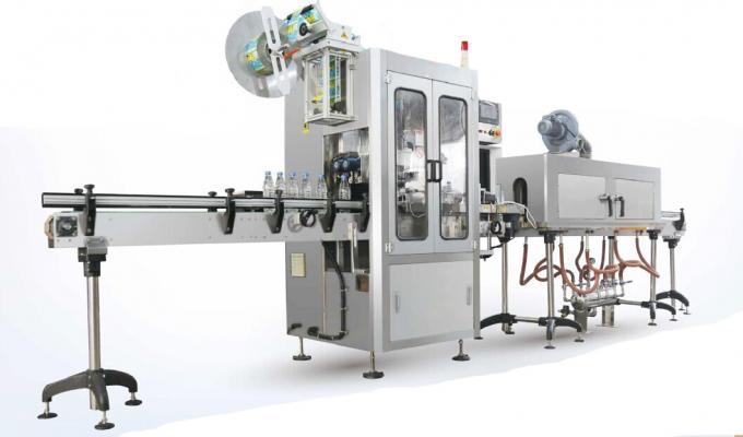Stroj na označování etiketou na smršťovací rukávy / aplikátor smršťovacích rukávů
