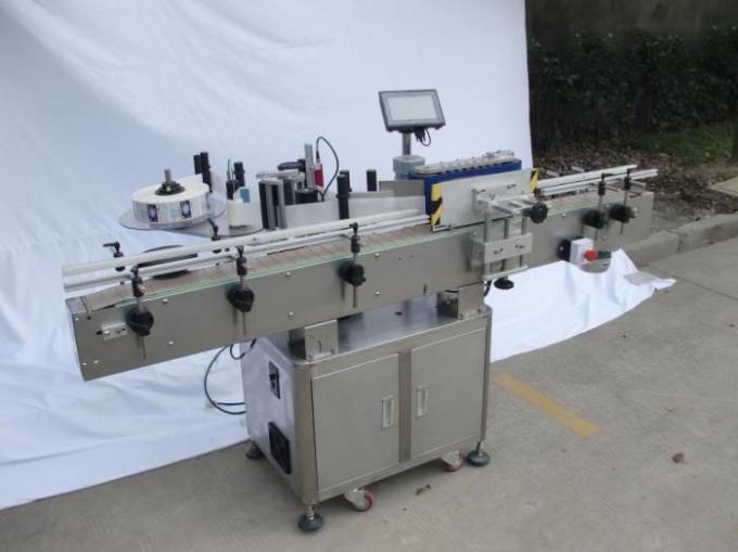 Automatický etiketovací stroj na kulaté láhve pro nesuché lepidlo, etiketovací stroj na dřevěné pouzdro / exportní balení pro CE