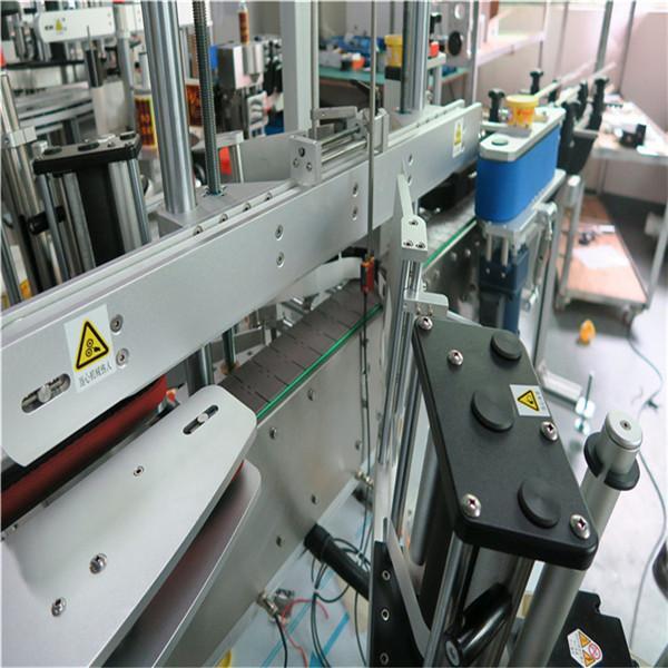 Tři lineární samolepicí etiketovací stroje vpředu / vzadu / na krku Nápoj / Potraviny / Denní chemikálie