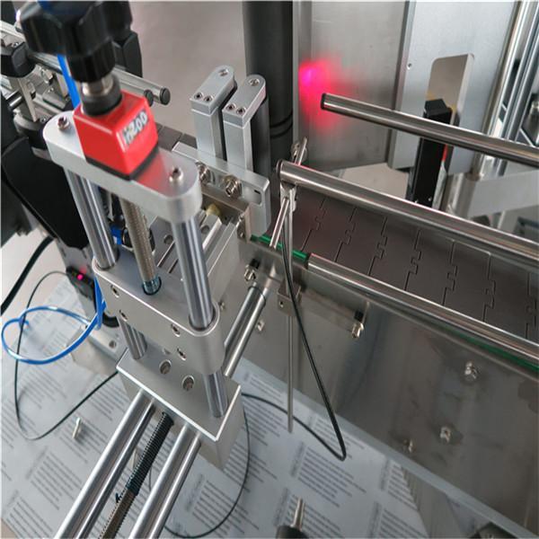Standardní automatický stroj na označování kulatých lahví přední a zadní