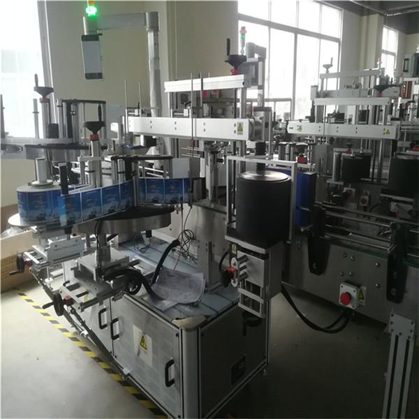 Samolepicí etiketovací stroj na plastové lahve pro domácí mazlíčky, stroj na nanášení etiket na lahve