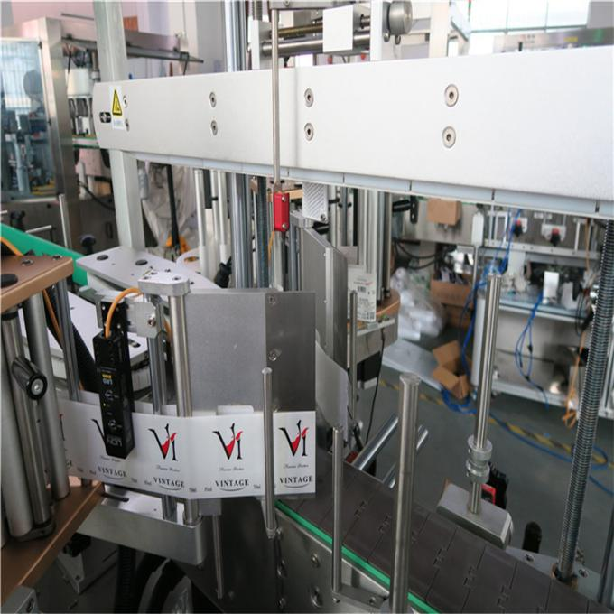 Automatický oboustranný samolepicí etiketovací stroj Plochá čtvercová láhev Kulatá láhev