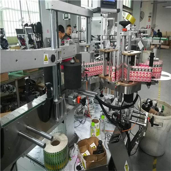 Oboustranný štítkovací etiketovací stroj pro obdélníkové čtvercové nádoby s olejovou lahví