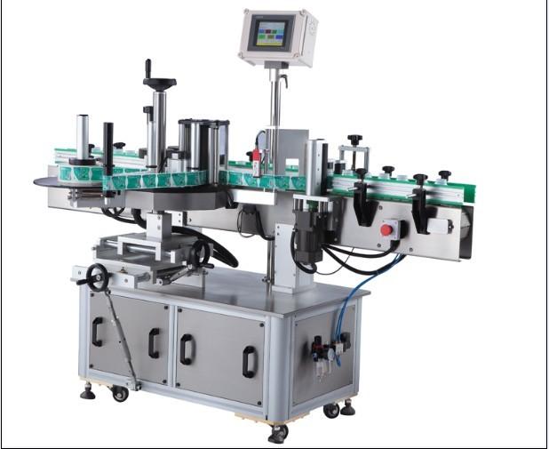 Etiketovací stroj na štítky s kulatou lahví citlivý na tlak, vertikální obtočení kolem aplikátoru štítků