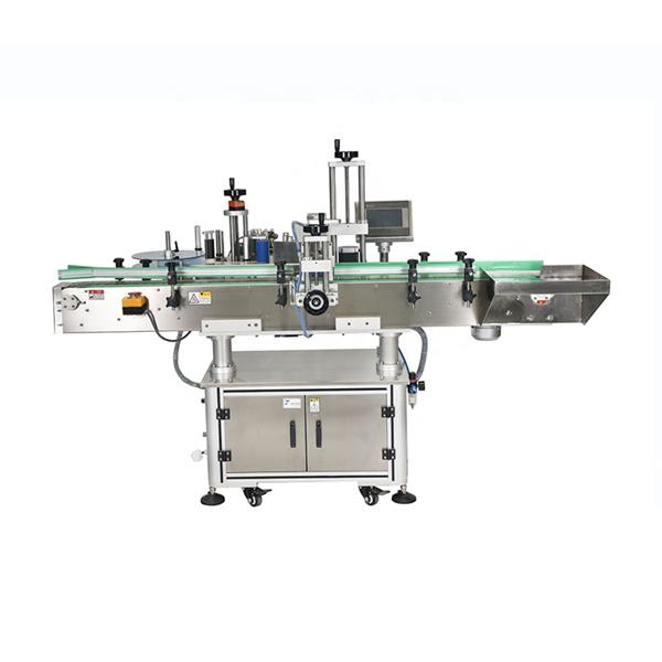 Stroj na nanášení samolepek na čtvercové lahve o hmotnosti 25 kg