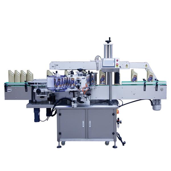 Automatický štítkovací stroj na označování lahví na lícní straně a na krku