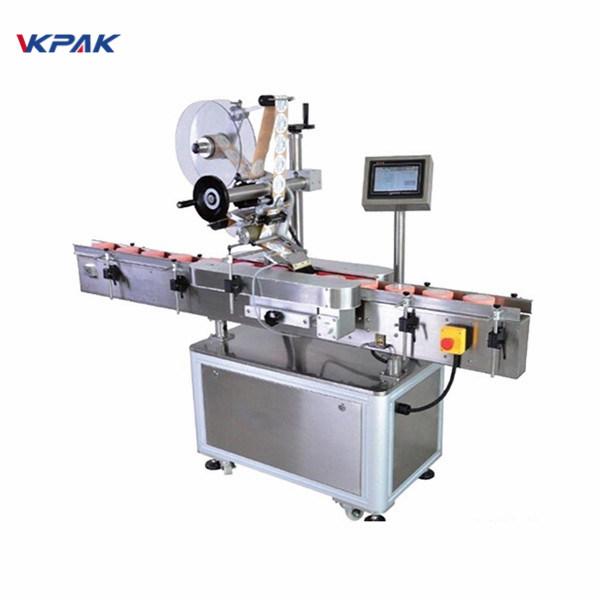 Automatický stroj na označování kulatých lahví se samolepícím fixním bodem