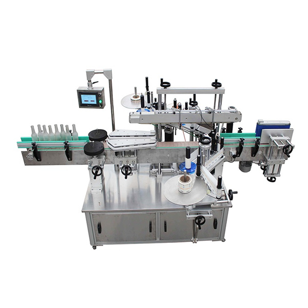 Kosmetický stroj na označování hranatých lahví