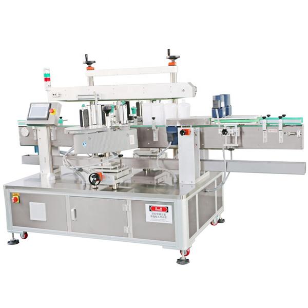 Přední a zadní etiketovací stroj s detergentem na lahve štítku na strojní olej