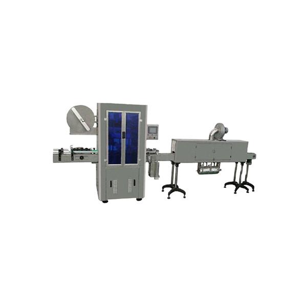 Stroj na označování smršťovacích rukávů s celkovou lahví minerální vody