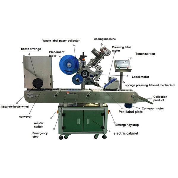 Etiketovací stroj na štítky s farmaceutickými lahvičkami Průměr lahví 10-30 mm