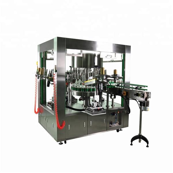 Rotační etiketovač s kulatými lahvemi a systémem etiketovacích strojů s rotační miskou