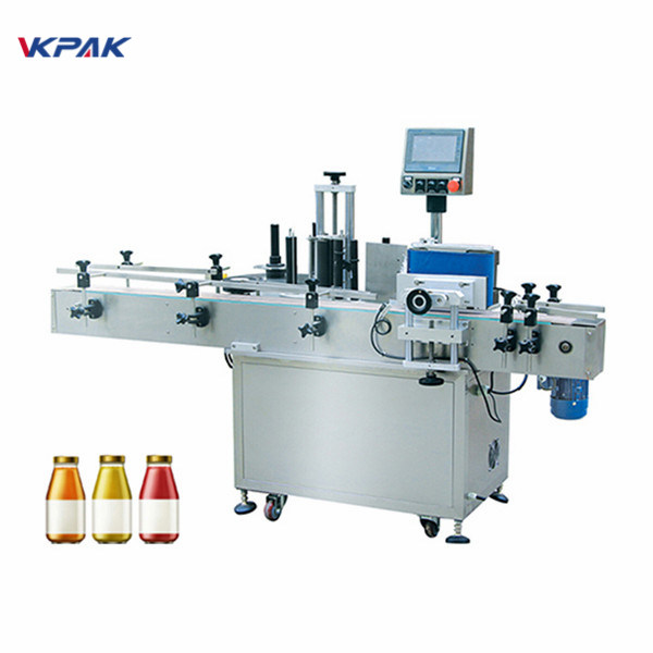 Láhev na víno Jednostranný automatický stroj na označování kulatých lahví