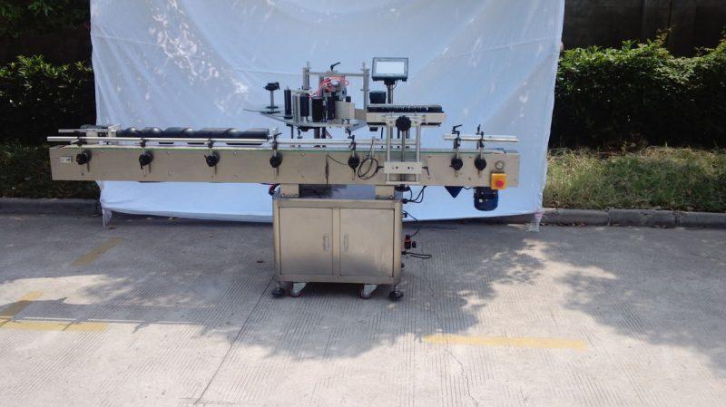 Čína Automatický etiketovací stroj na kulaté lahve pro nesuché lepidlo, dřevěný etiketovací / exportní balicí etiketovací stroj pro dodavatele CE