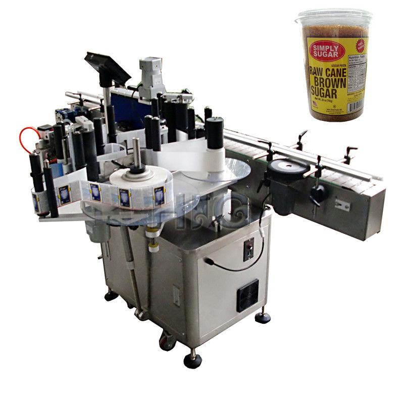 Čína kulatý lahvový etiketovací stroj, stáčecí a etiketovací stroj pro dodavatele bround suger jar