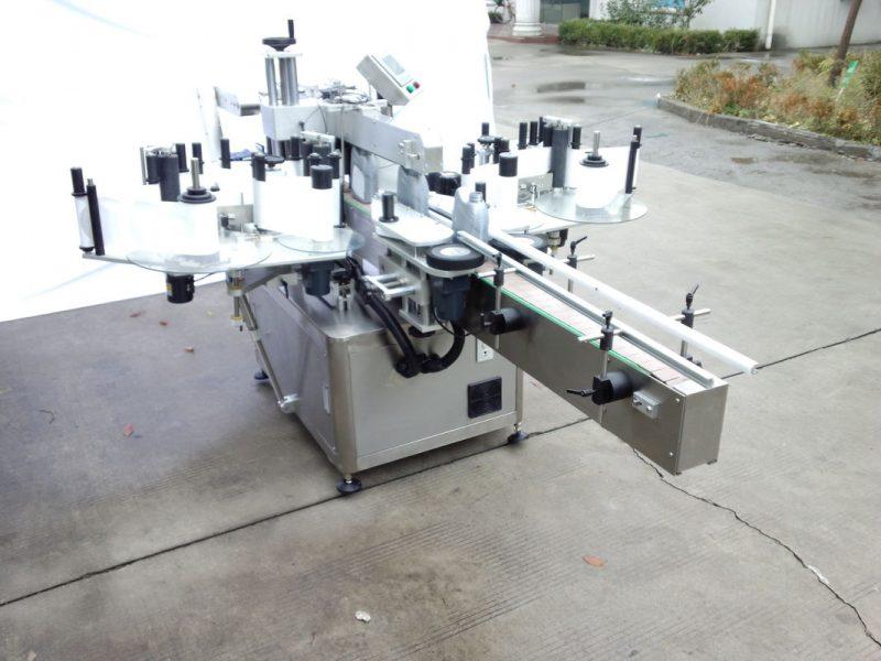 Čína automatický oboustranný štítkovací štítkovací stroj s přední a zadní stranou pro dodavatele oválných, kulatých, čtvercových lahví