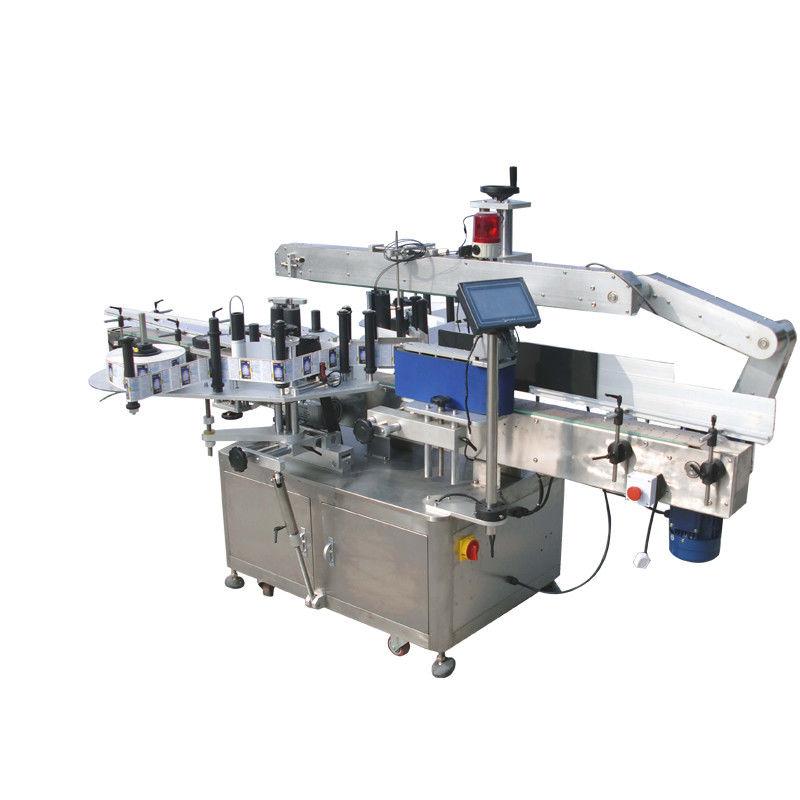 Kulaté lahve Oboustranný štítkovací etiketovací stroj na nápoje, potraviny, chemikálie