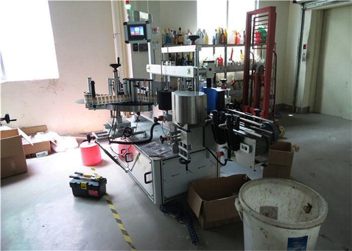 Čína plastová / skleněná láhev oboustranný etiketovací stroj, dodavatel čtvercových lahví