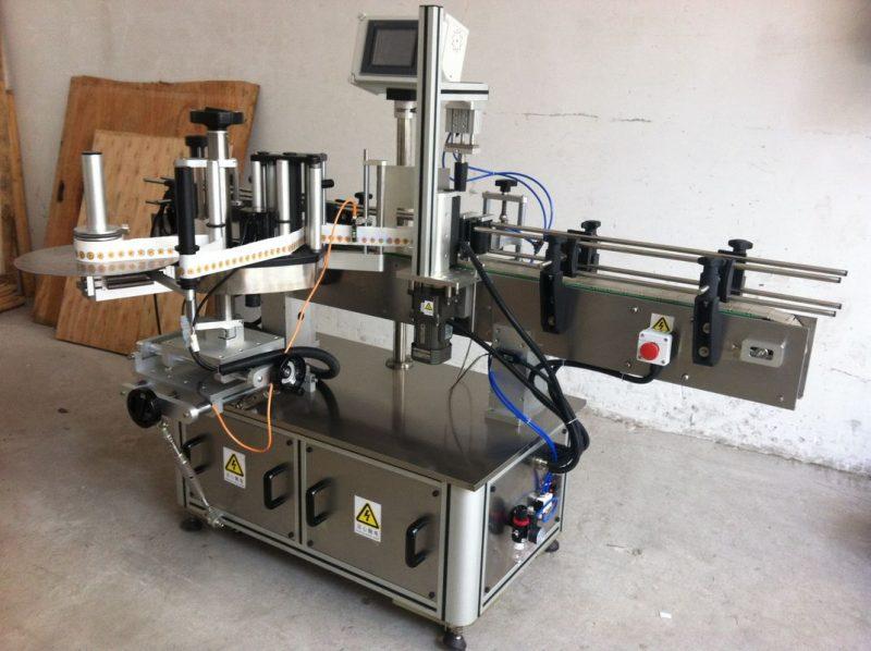 Čína kulatá láhev štítkovací etiketovací stroj zabalit kolem dodavatele aplikátoru štítků