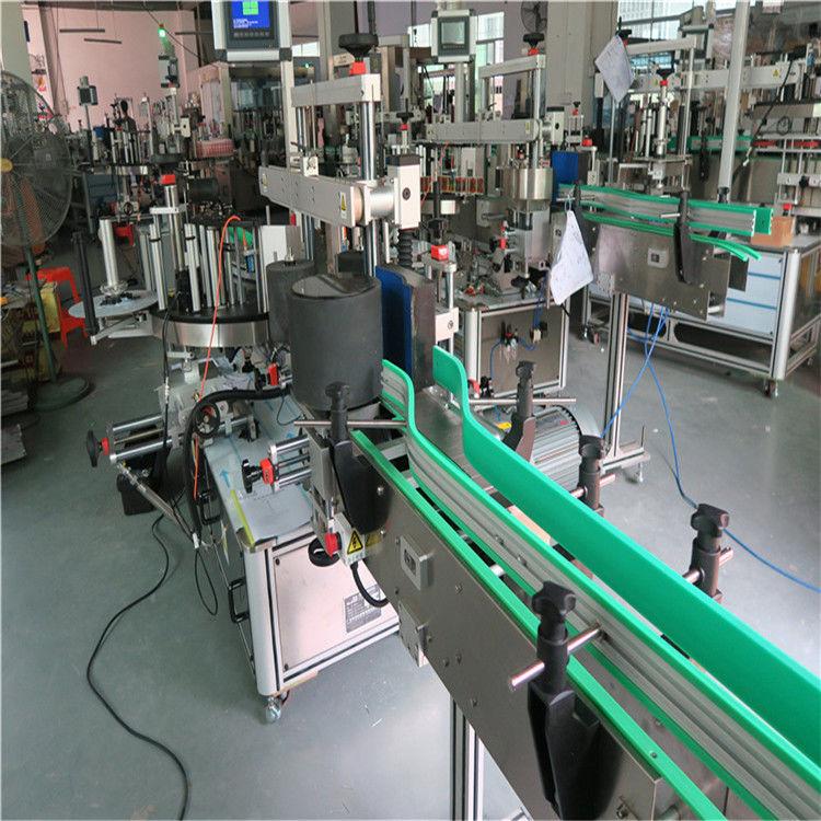 Oboustranný samolepicí štítkovací stroj na značení lahví, výška 190 mm, max