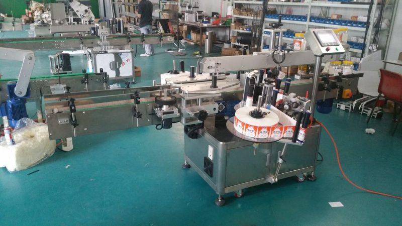 Čína automatický etiketovač lahví oboustranný štítkovací stroj na sáčky stojící dodavatele