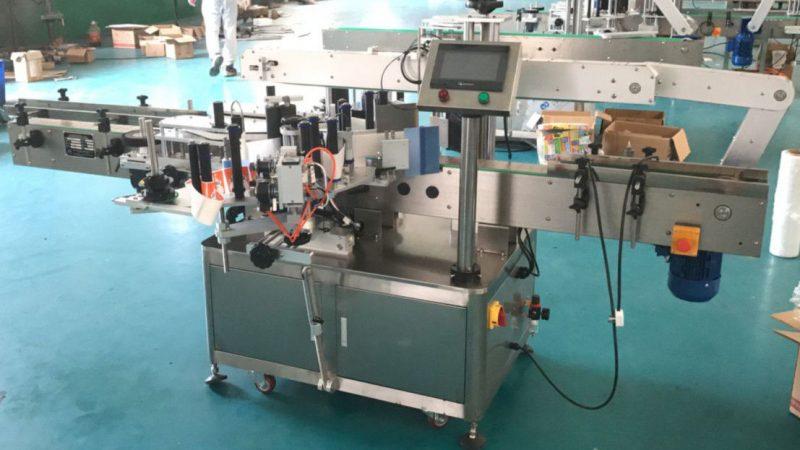 Čína přední a zadní strana aplikátor etiket s opravným mechanismem, dodavatel štítkovacích strojů