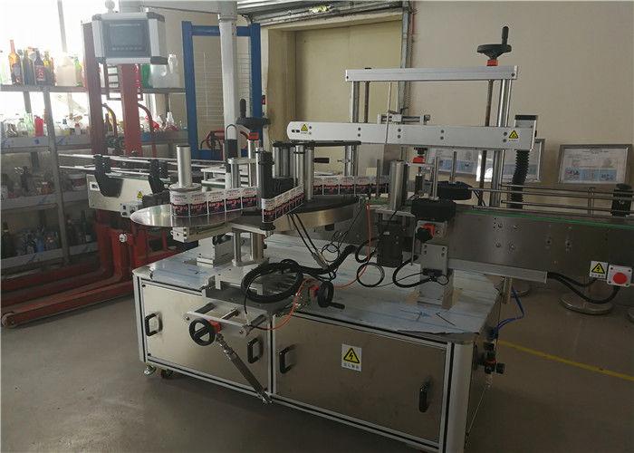 Stroj na označování oválných lahví se dvěma hlavami pro oválnou láhev v chemickém průmyslu