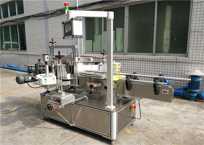 Šamponovací stroj na označování plochých lahví přední a zadní