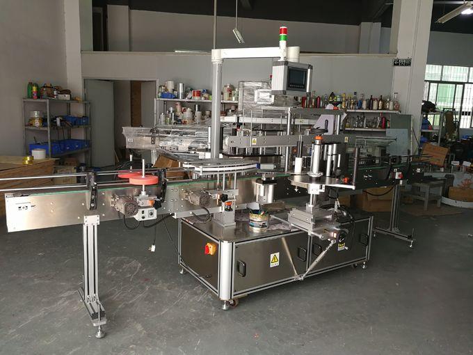 Šamponovací stroj na značení plochých lahví, samolepicí etiketovací stroj přední a zadní