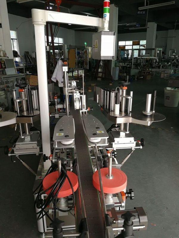 Automatický oboustranný štítkovací štítkovací stroj pro šamponové oválné a ploché lahve