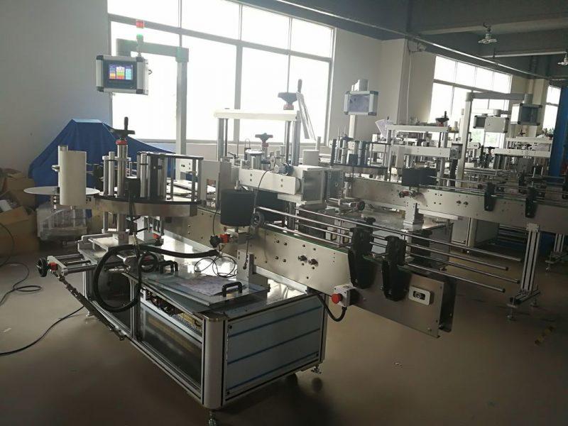Čína samolepicí štítkovací etiketovací stroj přední a zadní strana, dodavatel aplikátoru etiket na lahve