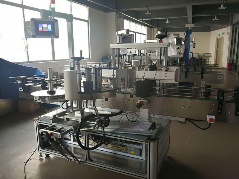 Čínský stroj na označování plochých lahví, automatický stroj na nanášení štítků PLC a dodavatel dotykové obrazovky