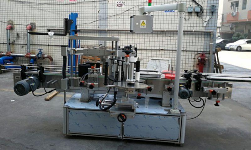 Čína Oboustranná samolepka Eliptický oválný automatický etiketovací stroj 1200W dodavatel