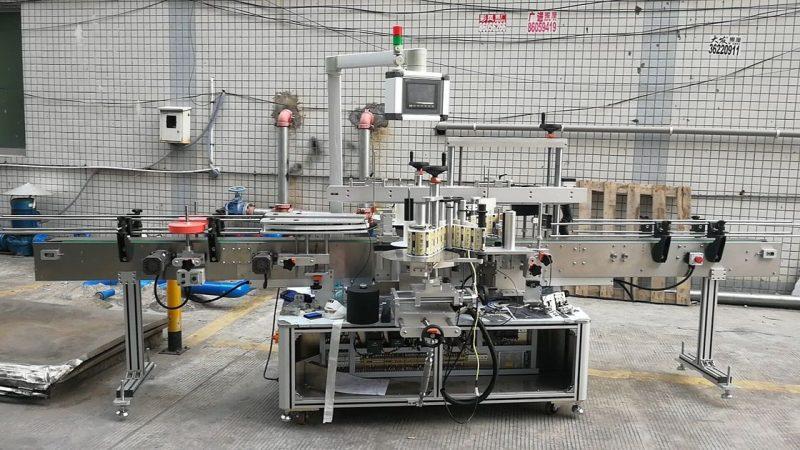 Čína automatický lepicí stroj na značení čtvercových lahví oboustranný dodavatel