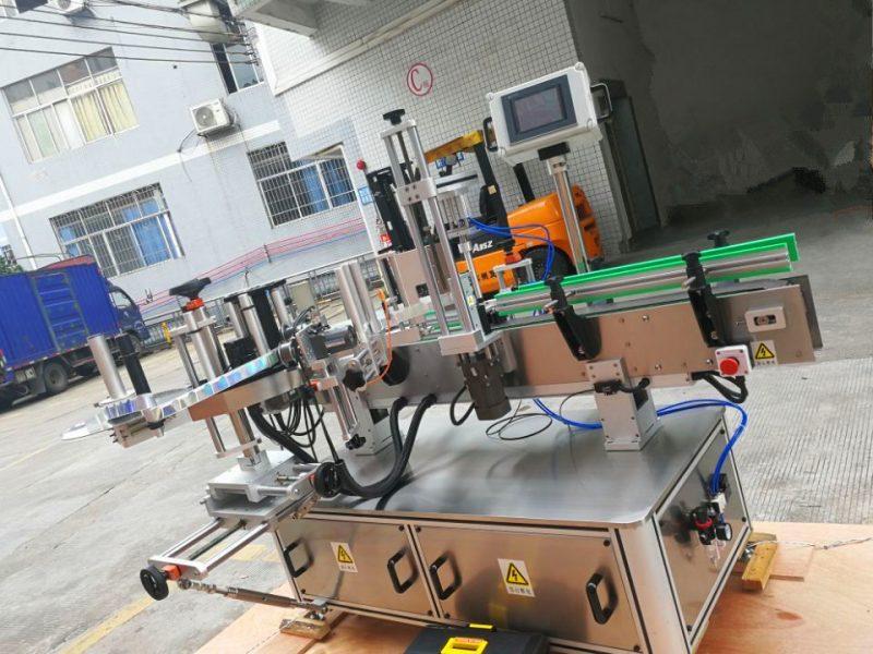 Čína etiketovací stroj na štítky na kulaté láhve citlivé na tlak, dodavatel vertikálního balení kolem aplikátoru štítků