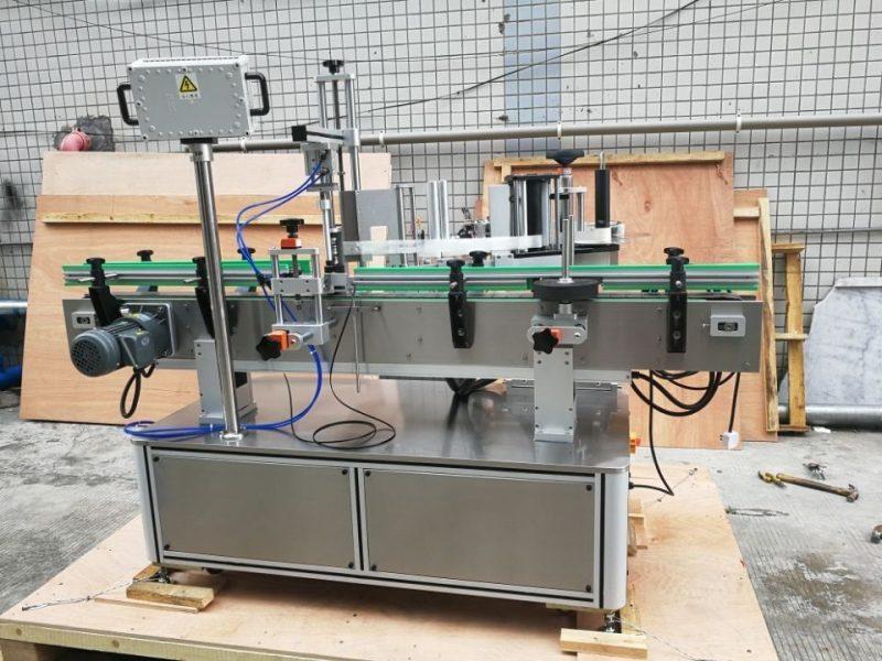Čína standardní automatický stroj na označování kulatých lahví přední a zadní dodavatel