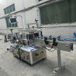 Samolepicí samolepka Oboustranný stroj na označování lahví plně automatický
